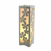 Lámparas de Mesa de estilo Northern Europe, sala de estar vintage para Lámpara decorativa, dormitorio, escritorio, luz de noche, flor LED