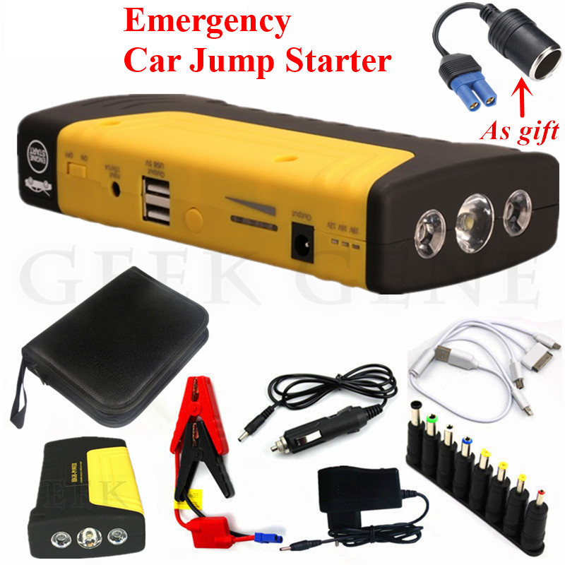 High Capacity 12V Power Bank Portable 600A Car Jump Starter Petrol Diesel Starting Device Booster Car Battery Charger Buster LED high power starting device 600a car jump starter power bank 12v portable starter charger for car battery booster buster diesel