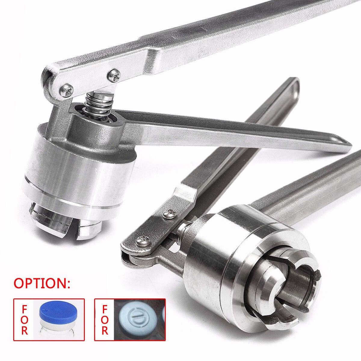 1 pc Manual de Aço Inoxidável Crimper Frasco Máquina Seladora de Mão Para Cravar 20mm Flip Off Tampas