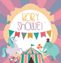 Carousel Baby Baby Shower Party Circus Theme backgrounds Vinyl cloth High quality Computer print party photo backdrop(China)