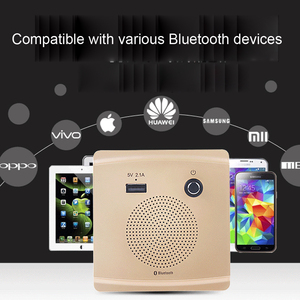 Image 5 - JINSERTA Bluetooth Speaker Smart Socket Mount HiFi Music Player Handfree 110 230V&5V 2.1A USB Charging Port