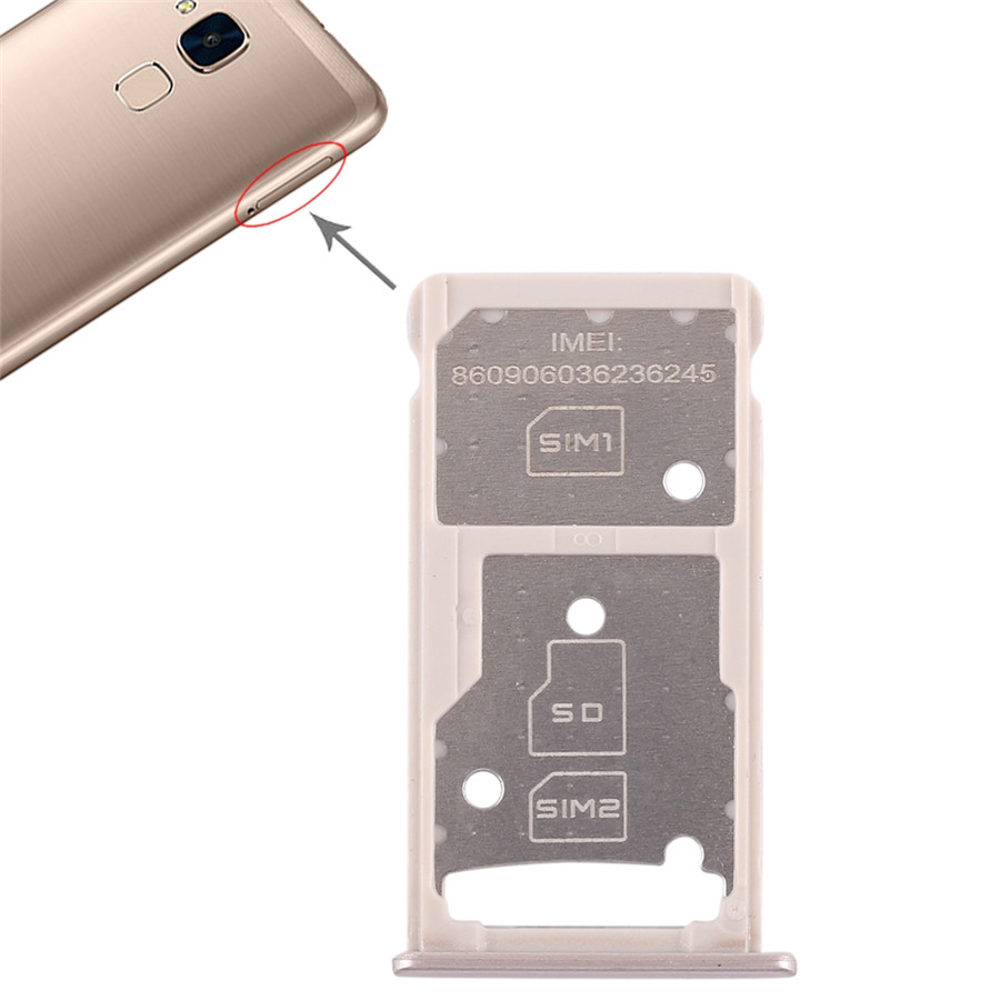 US $2 17 |iPartsBuy SIM Card Tray + SIM Card Tray / Micro SD Card Tray for  Huawei Honor 5c-in SIM Card Adapters from Cellphones & Telecommunications