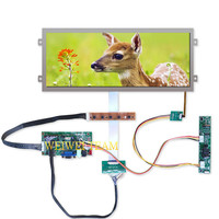 Car Automotive Screen 12.3'' IPS LCD Display 1920x720 Stretched Bar Ultra Wide Panel HDMI VGA LVDS Controller High Brightness