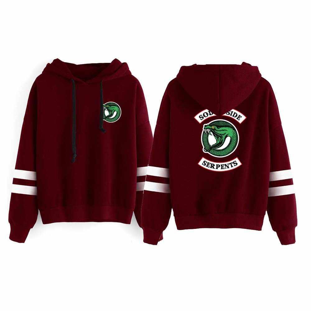 New Riverdale Hoodie Sweatshirts South Side Serpents Streetwear Tops Spring Hoodies Female Hooded Harajuku Hoodie Streetwear