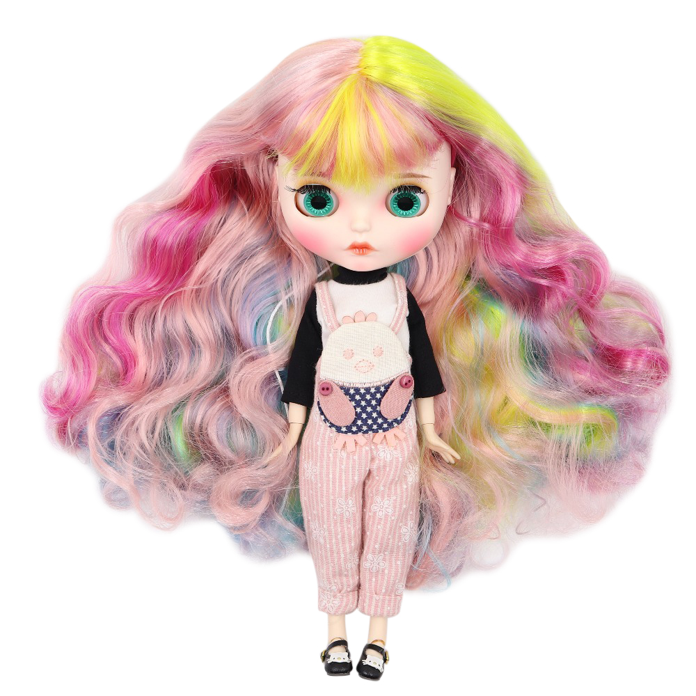 Factory blyth doll 1 6 bjd doll white skin joint body new matte face Carved lips