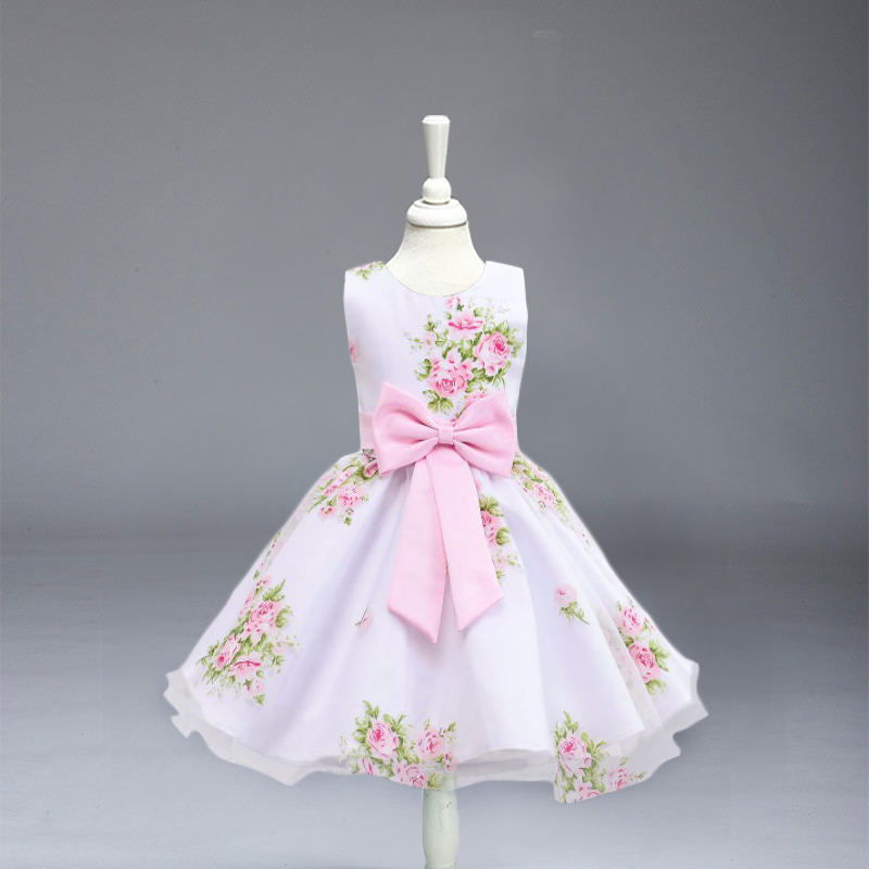 High Quality Flower Girl Dresses Children Kids Wedding Party Baptism Princess Dress For Baby Girls Wedding