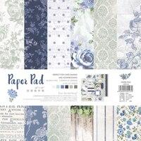 Новинка! ENO поздравление Валентина записки бумага Pad синий цветок задний план s Декоративные Бумага для скрапбукинга