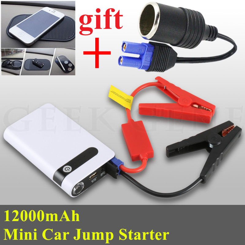 Mini Portable 12000mAh Car Jump Starter Power Bank Starting Device 12V Diesel Petrol Car Charger For