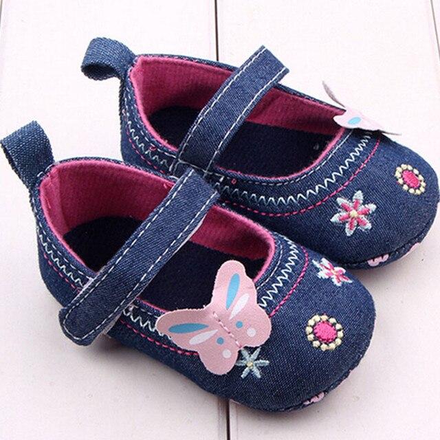 יילוד תינוק נעלי פעוט ילדים אופנה פרפר פרח קישוט נעלי רך בלעדי פעוט נעלי 0-18 חודש Bebe Zapatos