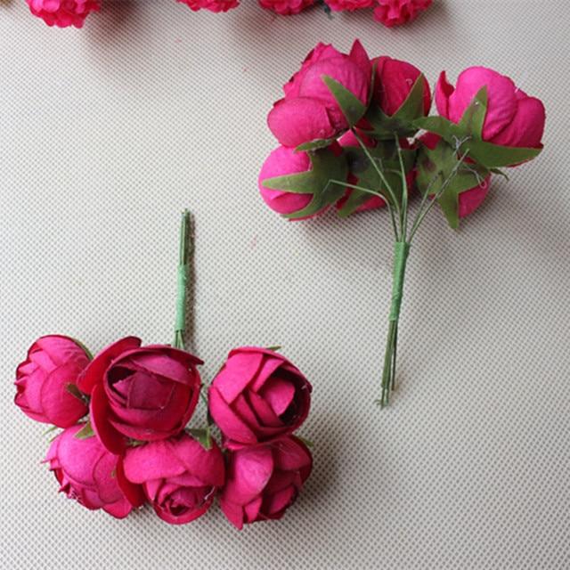 3CM Artificial Flower Bouquet,Ribbon Rose Bouquets For DIY Flower ...