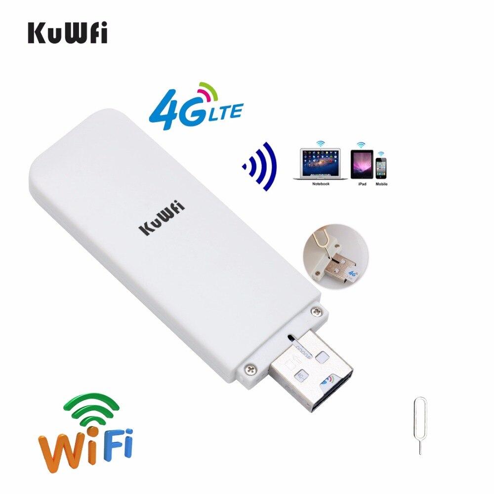 <font><b>KuWfi</b></font> Unlocked 4G Router USB Wireless <font><b>WIFI</b></font> <font><b>Modem</b></font> Wireless USB Network Dongle SIM