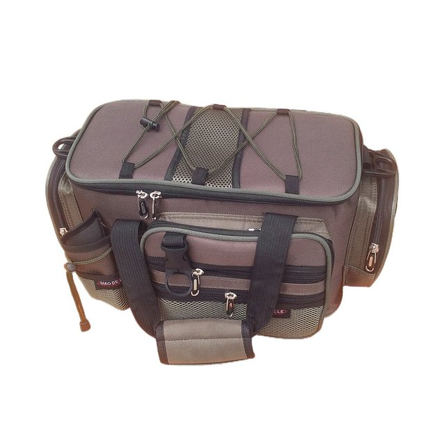 Best Price 2017 Multifunction Canvas Fishing Bag Large Capacity Lure Fishing Tackle Pack Outdoor Shoulder Bags Fish Finder Drop Shipping