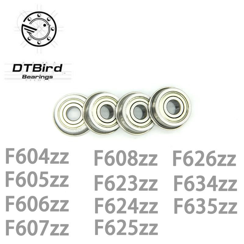 20 PCS Flange Metal Double Shielded Ball Bearing F634zz 4x16x5 mm