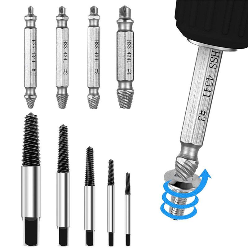 THGS Screw Extractor Kit Set Damaged Screw Extractor And Remove Set Made Of High-Speed Steel Hss 4341,A1D02 2 Pack Of Stripped