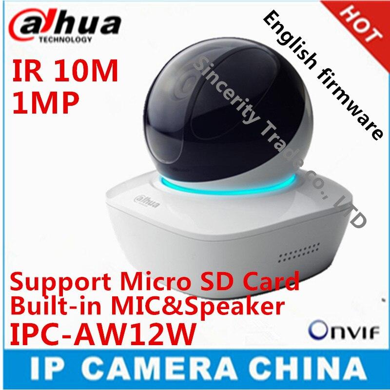 bilder für Original DAHUA Englisch version IPC-AW12W HD 1MP Wifi Mini Netzwerk kamera IR10M Abstand eingebautem MIKROFON & SPK mit Sd-karte slot