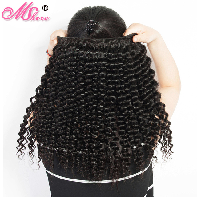 Deep Curly Human Hair Weave