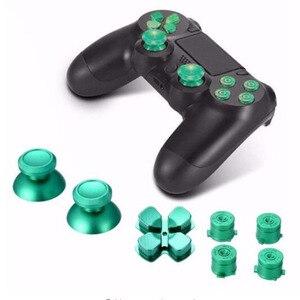 Image 5 - Joystick analogique en métal capuchons de poignée de pouce + Dpad Action d pad boutons pour Sony Playstation Dualshock 4 PS4 DS4 manette de jeu