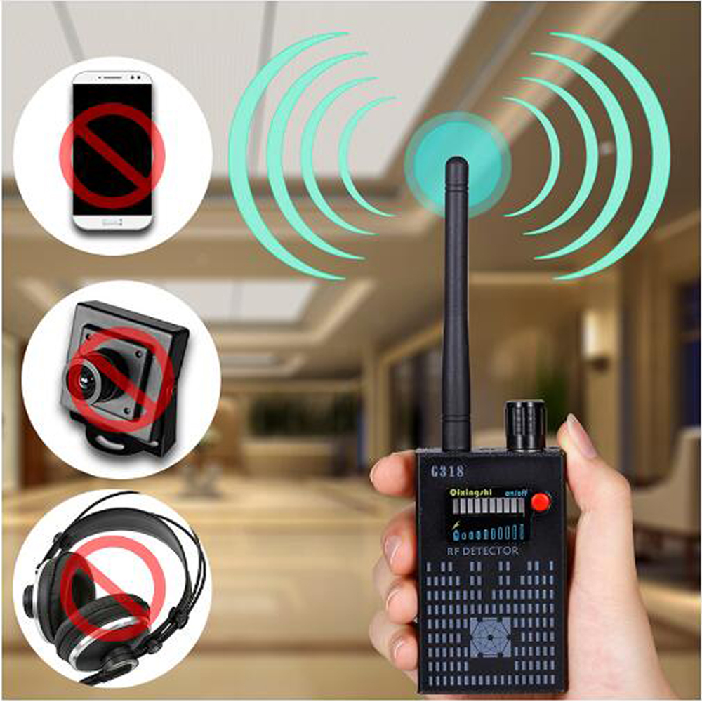 1 PCS Anti Wireless Camera Detector Gps Rf Mobile Phone Signal Detector Device Tracer Finder 2G 3G 4G Bug Finder Radio Detection giantree multi function rf signal finder detector full range wireless camera gsm gps cell phone radio detector bug detector