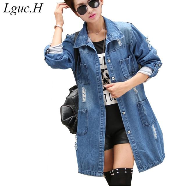 Aliexpress.com : Buy Lguc.H Women Large Size Denim Jackets Female ...
