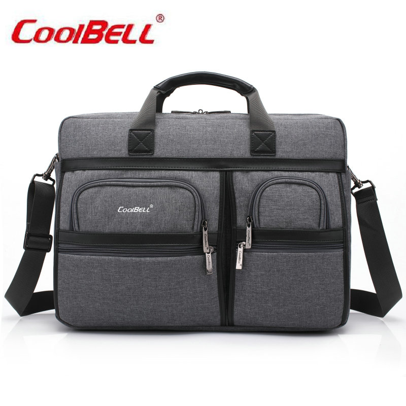 COOLBELL 15.6/17.3 inch Notebook Computer Laptop Sleeve Bag Case for Men Women Briefcase Shoulder Messenger Bag-FF