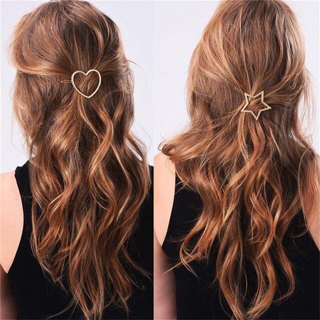 Metall Pferdeschwanz Halter Mit Stern Pentagramme Haarspangen Frauen Haar Zubehor Fur Eine Halbe Up Frisur Kostenloser Versand