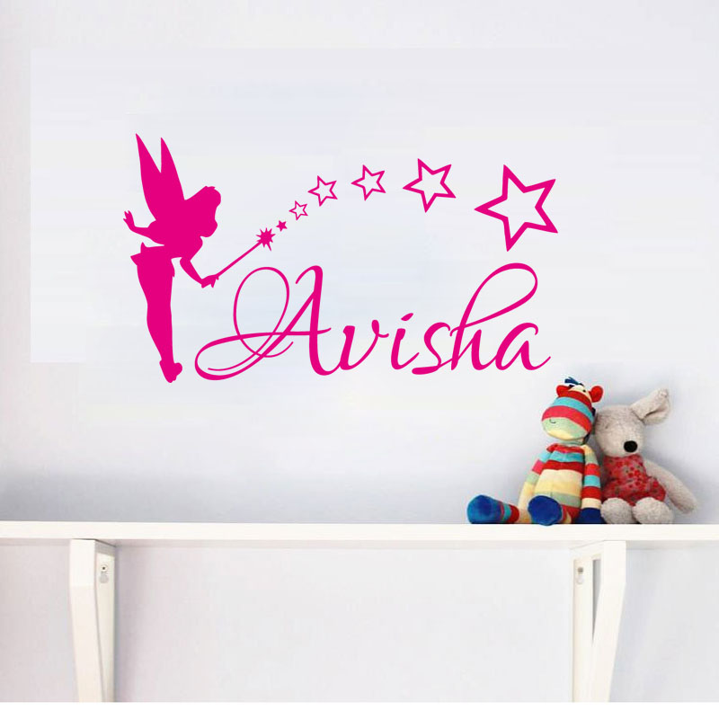 Tinkerbell Girls Bedroom Wall Decal Sticker Kids Characters Stickers Decor Wall Vinyl Decal Art Vinyl Home Decor