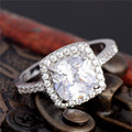 New Sale Free Shipping White Cubic Style Jewelry Silver Ring Size 6 7 8 9 10 Women Wedding