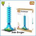 Mr.Froger LOZ Taipei 101 Tower Diamond Block World Famous Architecture Series Pixel City Building Blocks Classic Toys Children