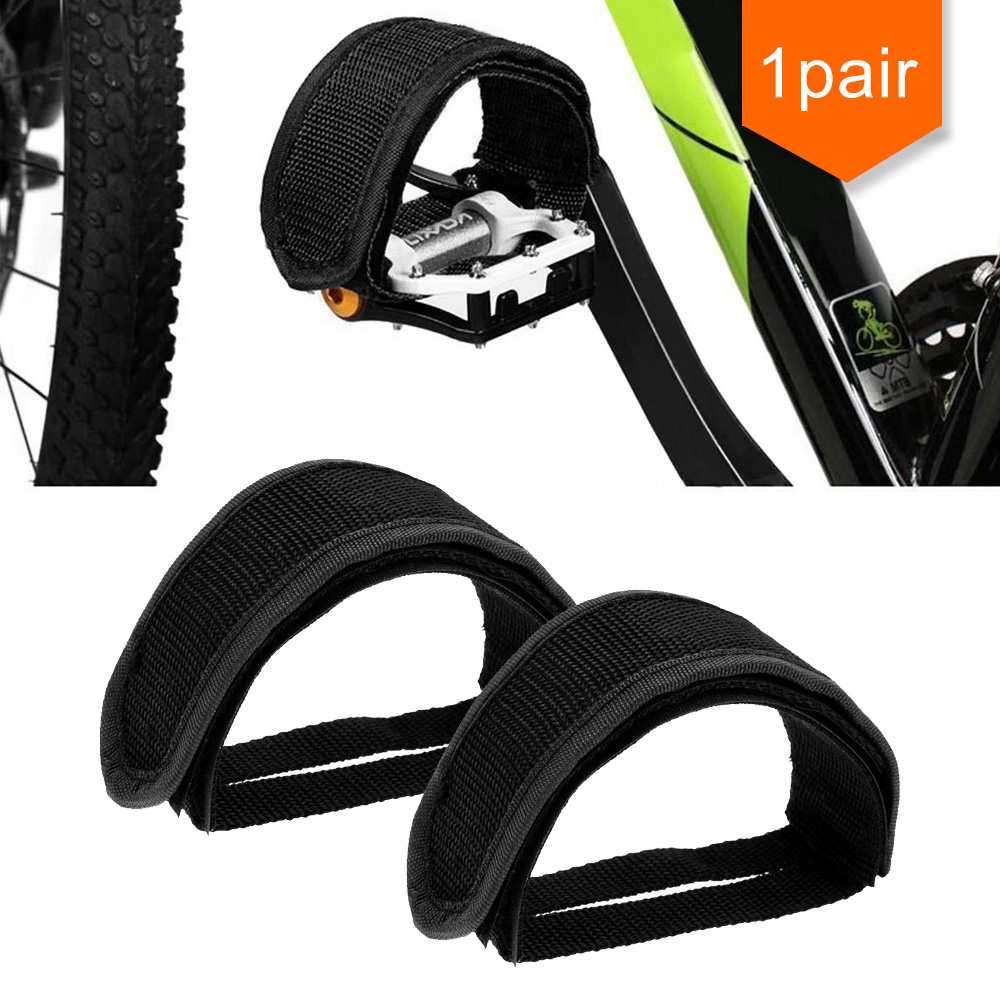 AAG Pedal Accessories Outdoor/ Home Pedal Cover For Travel Black Color A Pair Polyester Fiber Velcro Pedals Bands Feet Set