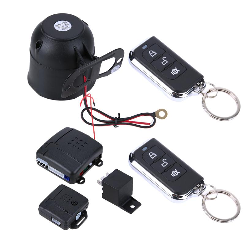 Car Alarm Auto System Remote Control Central Locking Door kit Keyless Entry System with Button Start Stop LED Keychain Universal