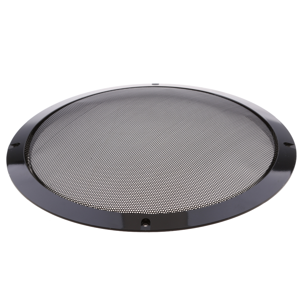 10 inch Black Color Mesh Speaker Decorative Circle Subwoofer Grill Cover Guard Protector with Screw