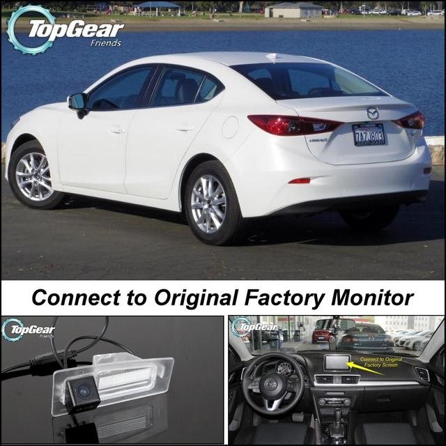 Câmera do carro Ligar Original de Fábrica Tela/Monitor Para Mazda 3 M3 Axela Sedan 2013 ~ Onwork BM Rear View Back Up câmera