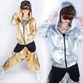 Homens E Mulheres Jaqueta Moda Feminina Hip Hop Jazz Dança Peformance Trajes Ds Lantejoulas Dança Ocasional Outwear