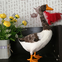 large 25x38cm simulation standing duck polyethylene&feathers duck model handicraft home decoration gift b2625
