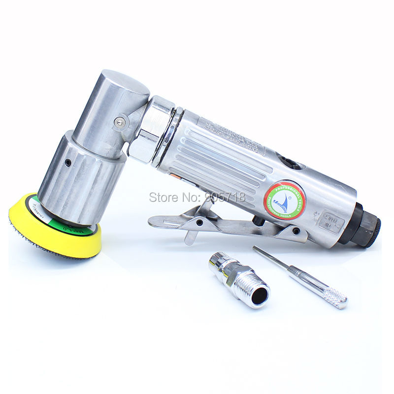 Free Shipping 2 Inches Pneumatic Air Polisher Eccentric Polishing Machine 90 Degree Pneumatic Sander Tool free shipping reciprocating type pneumatic sanding tool air polishing machine wind grinding tool sander machine 3mm move track