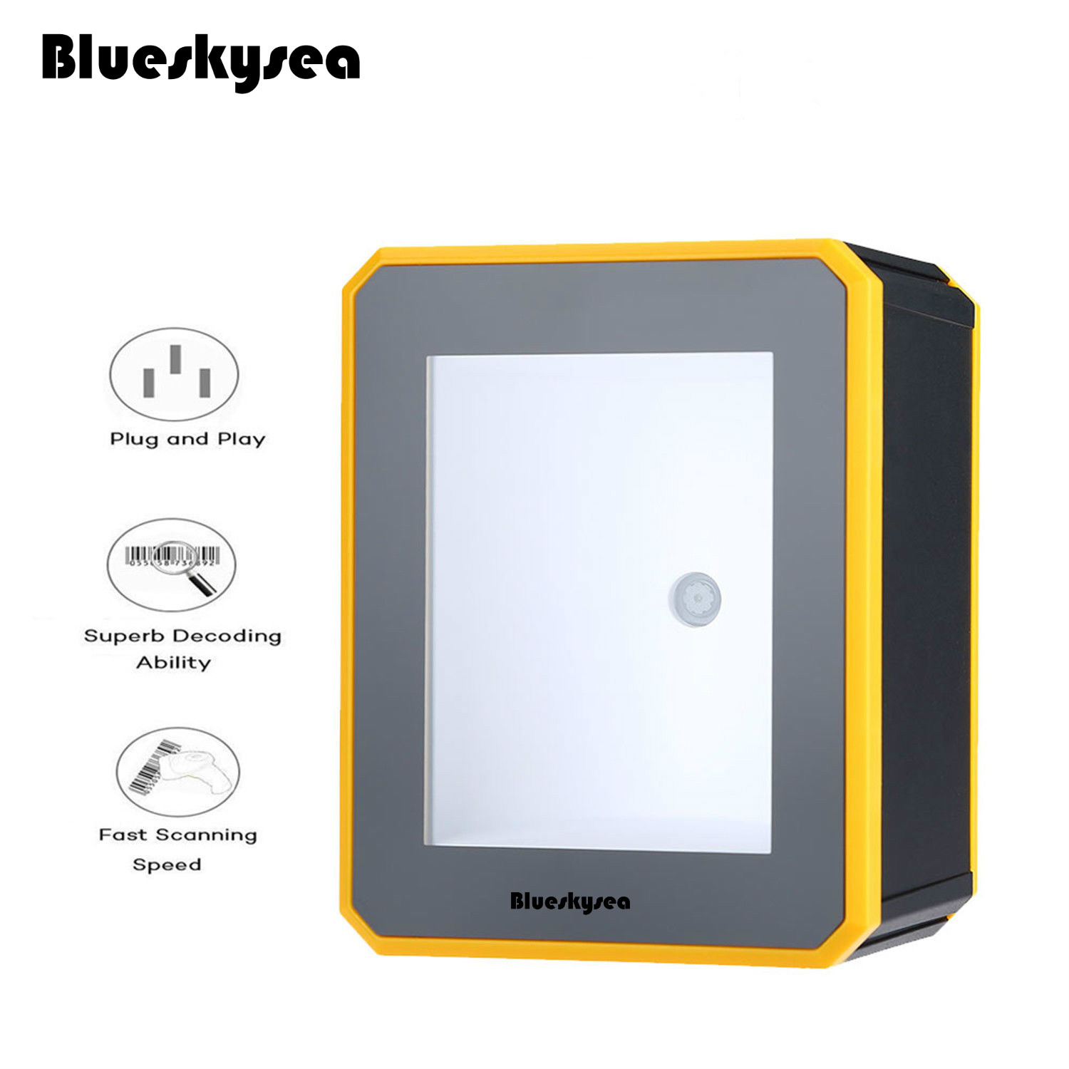 Blueskysea YK-MP2600 1D/2D Platform Barcode Scanner USB Wired Desktop 2D QR Code Reader Omnidirectional 2D QR PDF417 Scanner desktop omnidirectional 1d 2d ccd image laser barcode scanner for supermarket usb pos bar code reader auto scan 2d qr code