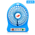Portable Mini USB Fan Rechargeable Battery Operated LED Lamp for Indoor Outdoor Kids Table 18650 Battery With free shipping