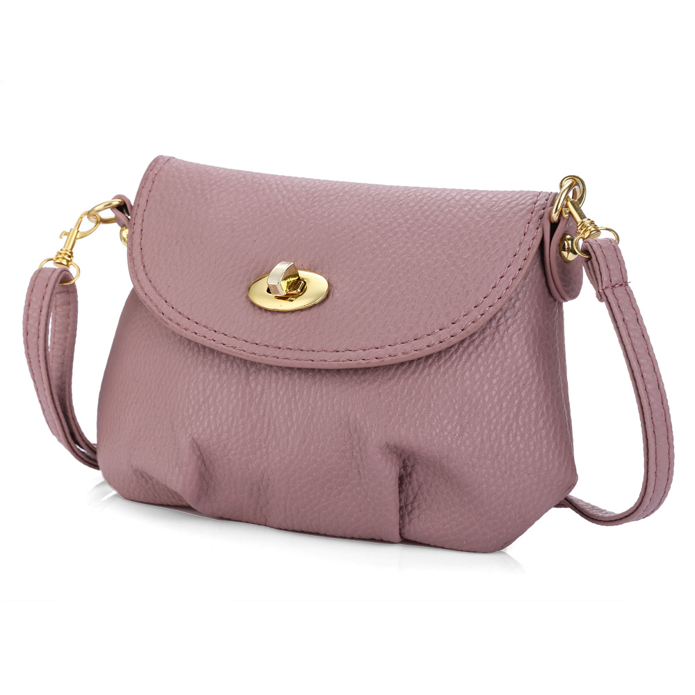 Daily Mini Leather Detachable Strap Women Messenger Bag Small Twist Lock Shoulder Bag Lady Handbag Purse Crossbody CrossBody Bag