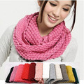2017 New Fashion Unisex Womens Ladies Men's Winter Knit Circle Loop Cowl Infinity Scarf Snood Scarves Wraps Free Shipping