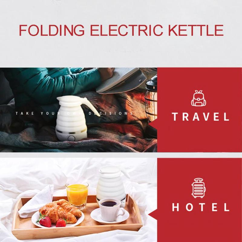 electric portable folding hot water kettle for outdoors camping travel