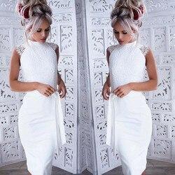 Slim lato koronki szwy sukienka bez rękawów księżniczka sukienka z paskiem płaszcza Sexy Bodycon sukienki formalne elegancka sukienka * 30 2