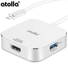 atolla USB C HUB 4 ports Micro Splitter with 3.1 Type Power Delivery  Adapter and 2 3.0 for PC Macbook Pro