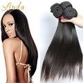 Роза Волос Продукты 10а малайзийские виргинские волосы прямые необработанные малайзии прямо 4 шт./лот девы человеческих волос weave kbl волос