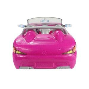 Image 3 - Voiture pour poupée Barbie 2 places, Convertible rose, accessoire, jouet classique, cadeau pour filles et enfants, non alimenté par batterie, 1/6