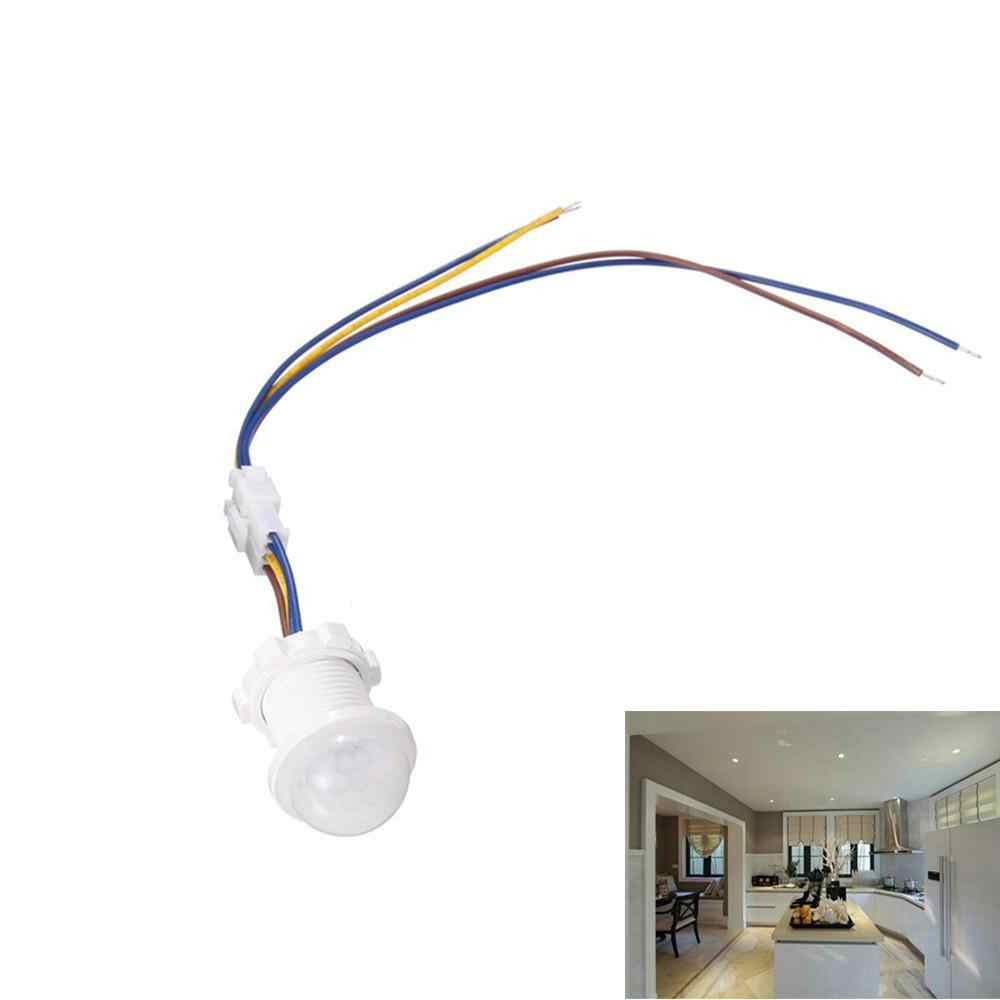 LED Light PIR Infrared Human Body Induction Sensor Time Delay Adjustable Mode Detector Switch LED Lamb For Home Room Decoration