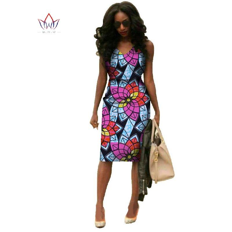 Vestidos 2019 African Dresses For Women Dashiki Plus Size Fashion African  Wax Print Dresses Bazin Riche d375d52428a5