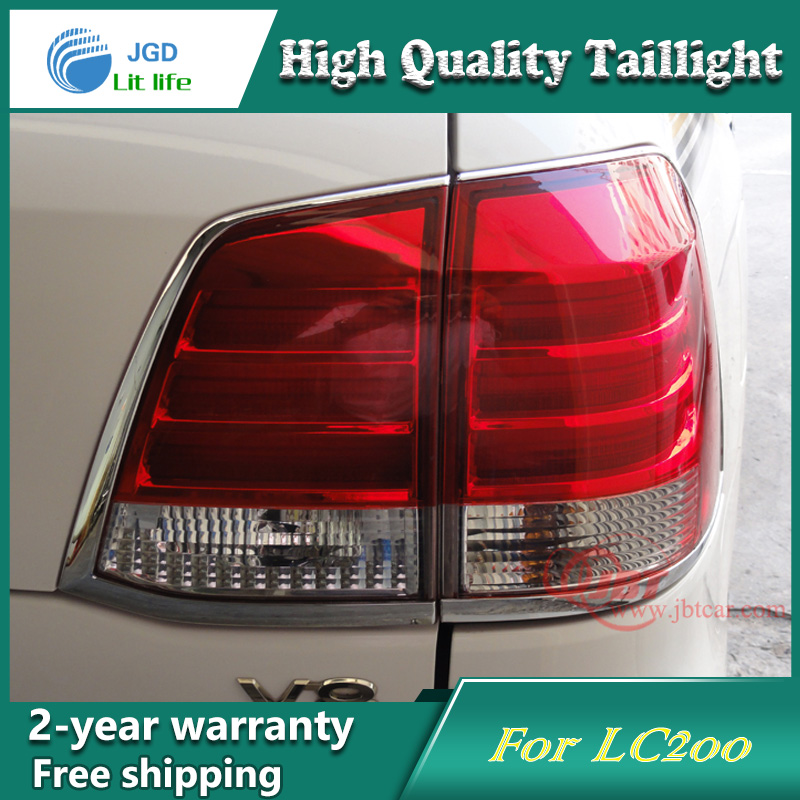 Car Styling Tail Lamp for Toyota LAND CRUISER FJ200 Tail Lights LED Tail Light Rear Lamp LED DRL+Brake+Park+Signal Stop Lamp car styling tail lamp for toyota corolla led tail light 2014 2016 new altis led rear lamp led drl brake park signal stop lamp