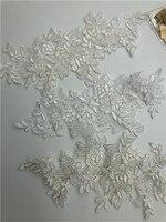 200pairs Motif Floral Venise Venice Wedding Applique Lace Trim Lace Bridal Lace white and ivory