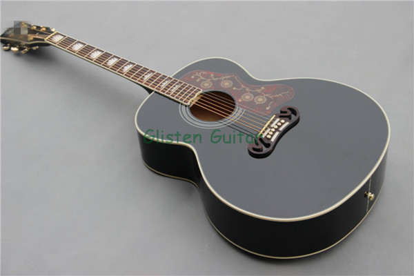 Free Shipping Black Acoustic Guitar With Fishman EQ And Free Hardcase