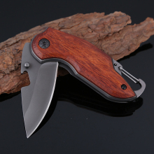 MARS MADAM Titanium Folding Knife Wood Handle Survival Tactical Pocket Knife Small Camping Knives EDC Tools